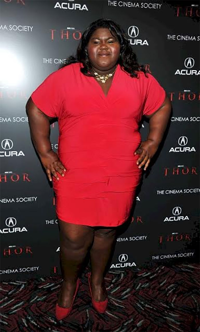 precious star gabourey sidibe loses 50 pounds then and now
