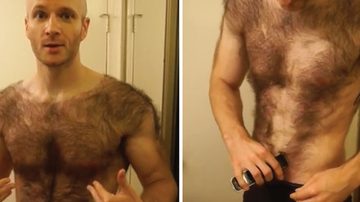 Gay man shave pubic hair trace and william