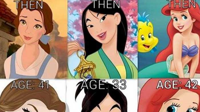 here�s what disney princesses would look like if they aged