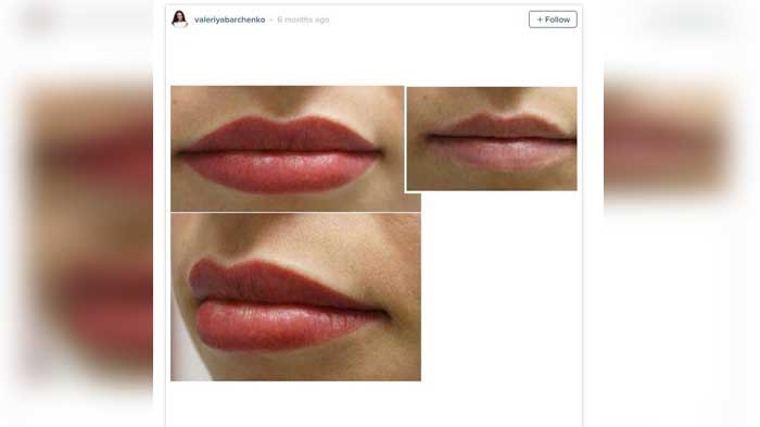 People are now getting lip liner tattoos to make their for Lip tattoo cost