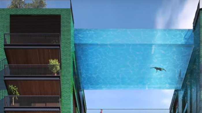 You ll be able to swim in the sky in london s new sky pool - The sky pool a deluxe adventure ...